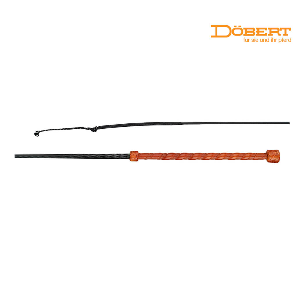 Dobert Whip Tan or Beige Leather Handle