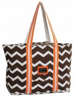 Abby tote bag chocolate burnt orange