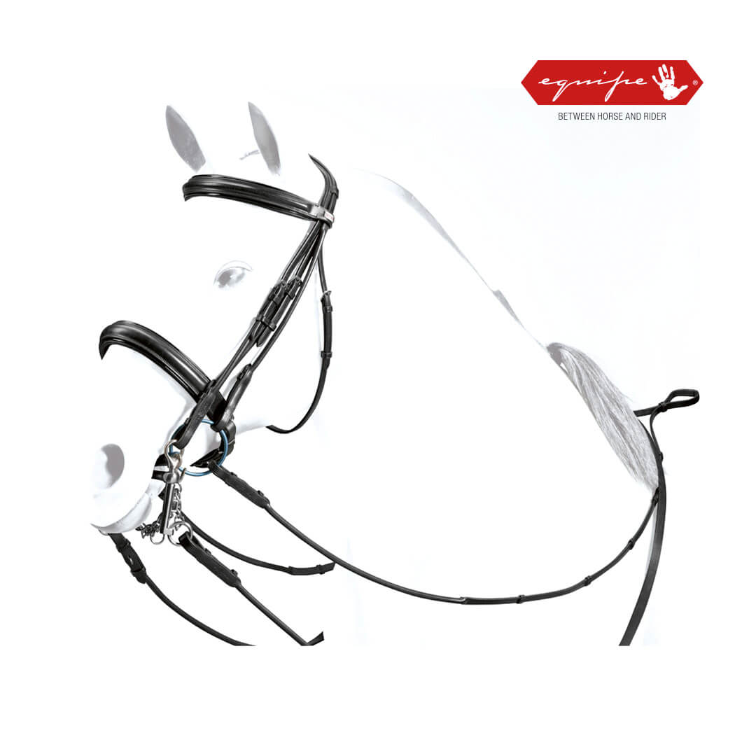 Equipe Weymouth Rolled Bridle with Patent Leather Trim