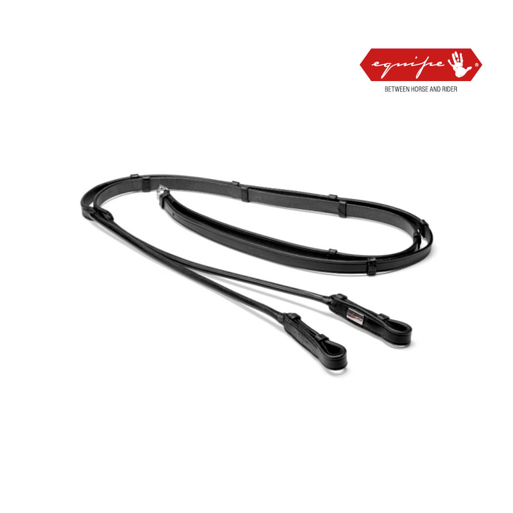 Equipe Rolled Dressage Reins with Cleats
