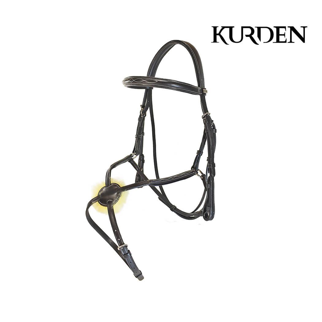 Kurden Fancy Stitch Grackle Bridle