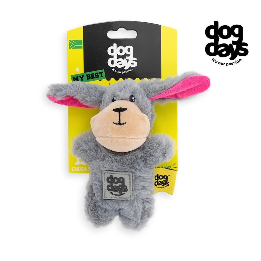 Dog Days Rabbit Plush Toy with Squeaker