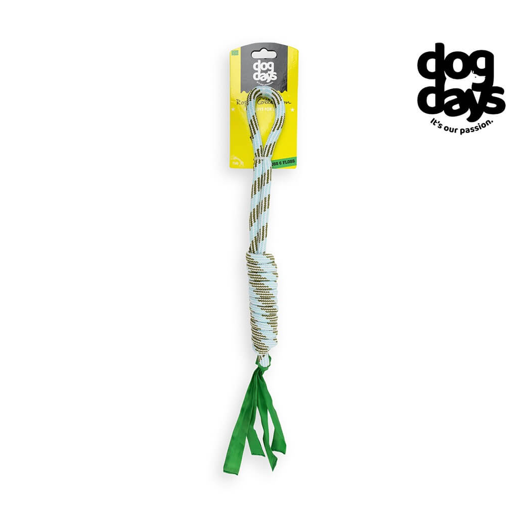 Dog Days Rope with Handle & Tassel Toy