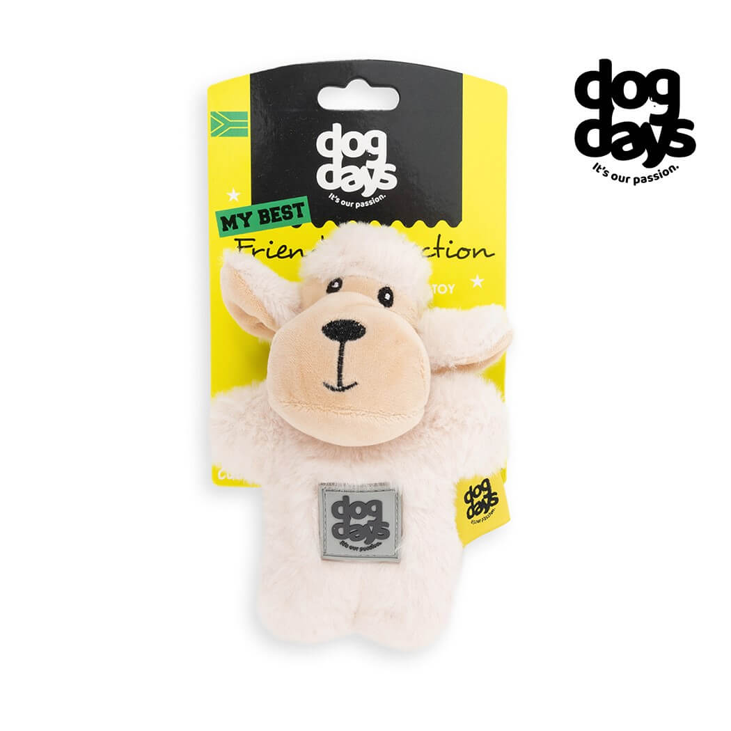 Dog Days Sheep Plush Toy with Squeaker