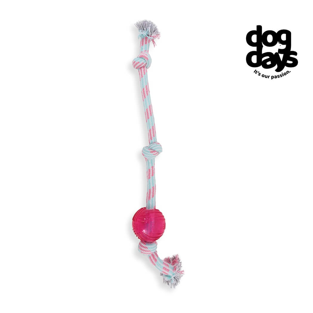 Dog Days TPR Ball 3 Knot Rope Toy