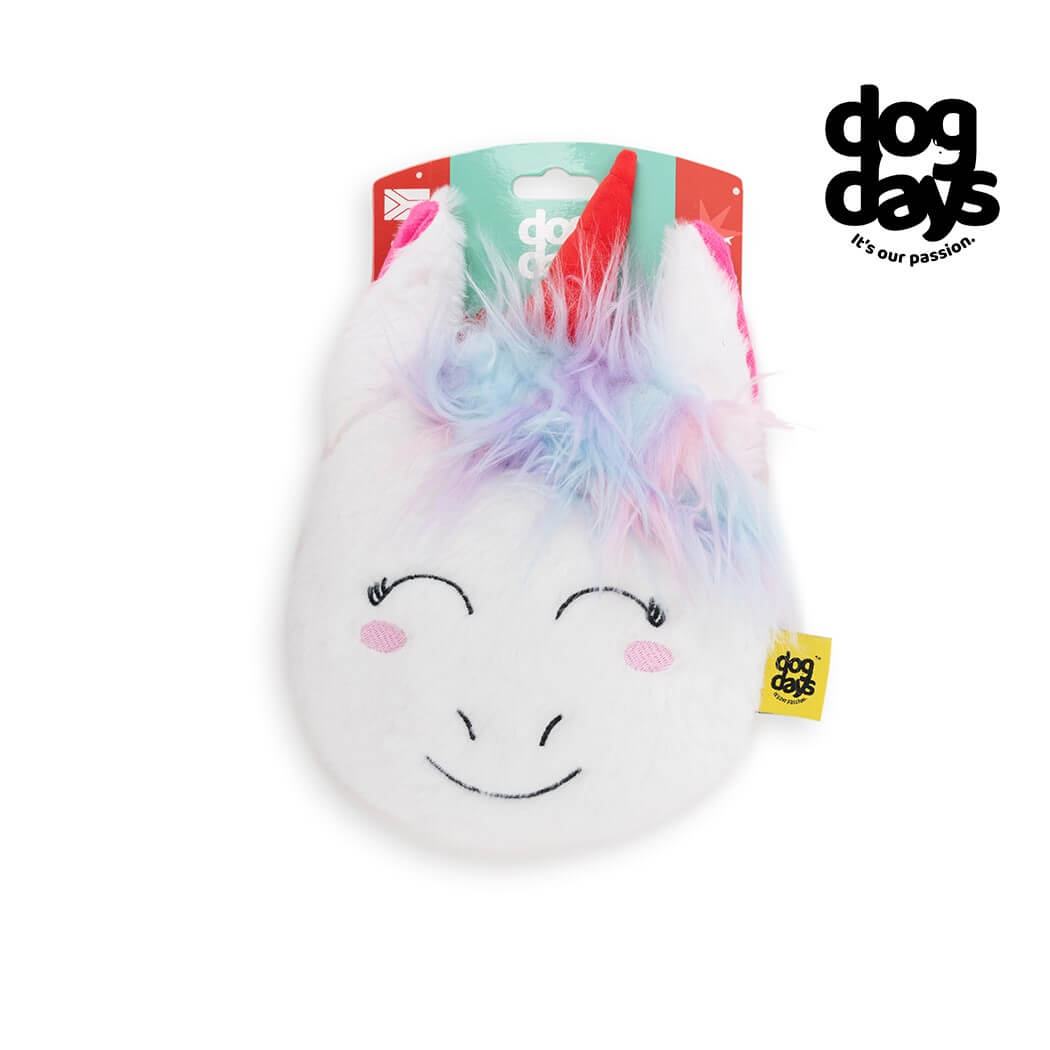 Dog Days Unicorn Flattie Squeaky Toy